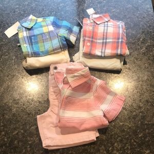 New Boys Lot of #3 Children's place Short Sets